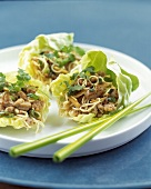 Pork Stir Fry in lettuce Cups