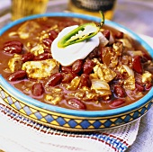 Chicken and red bean chili