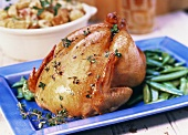 Roast Chicken with Snap Peas
