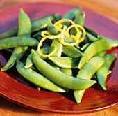 Snap Peas with Lemon Zest