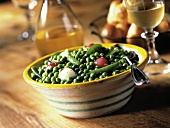 Bowl of Peas with Pearl Onions