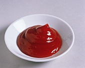 A Small Bowl Filled with Ketchup