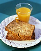 Banana Bread with Orange Juice