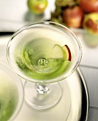 A Green Apple Martini
