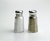 Salt and Pepper Shaker on White