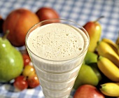 Peanut Butter Shake; Fresh Fruit