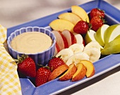 Fresh Fruit Slices with Orange Dip