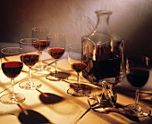 Red Wine Decanter with Glasses