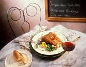 Coq au Vin on Restaurant Table