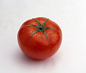 Tomato with Water Droplets