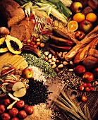 Still Life of Foods High in Fiber