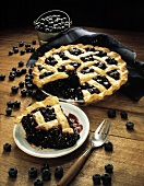 A Piece of Blueberry Pie with Whole Pie