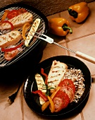 Grilled Fish Fillet with Vegetables and Wild Rice