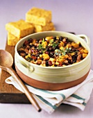 Vegetable Bean Stew with Corn Bread