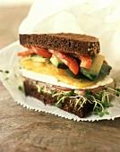 Veggie Sandwich on Paper