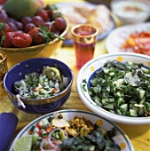 Buffet of Summer Fruit and Salads