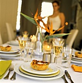 Tablesetting with Appetizers