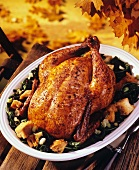 Whole Roast Chicken in the Fall