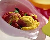 Mango-Raspberry Sorbet