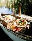Picnic on a Canoe with Crudite
