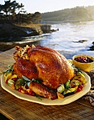 Whole Roast Turkey with View of Monterey