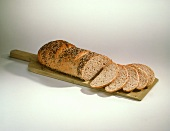 Loaf of Sesame Bread with Slices