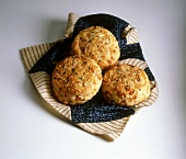 Cheddar and Sesame Biscuits