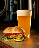 Cheeseburger with Wheat Ale