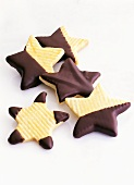 Chocolate Dipped Star-Shaped Cookies