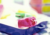 Popsicles in a Blue Pan