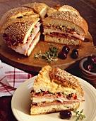 Classic Muffaletta Sandwich