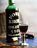 Vintage 1958 Port with Glass