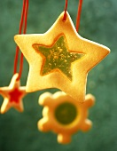 Stained Glass Star Cookie Ornament