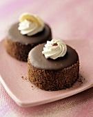 Mini Cream Filled Chocolate Cakes