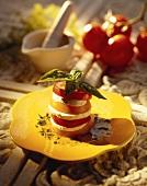 Insalata caprese (Tomaten & Mozzarella mit Basilikum)