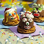 Ice Cream Cookie Desserts with Faces