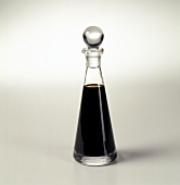 Balsamic Vinegar in a Glass Cruet with Stopper