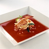 Red Pepper and Crab Soup