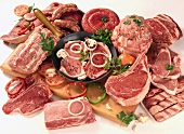 Assorted Cuts of Raw Meat