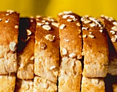 Sliced Bread Loaf; Close Up