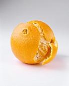 Partially Peeled Navel Orange