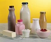 Milch, saure Sahne, Joghurt und Butter