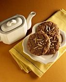 A Plate of Mocha Macaroon Cookies