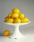 Meyer Lemons in a Pedestal Dish