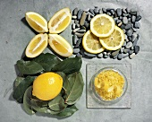 Lemon Variations: Whole, Wedges, Sliced and Zest