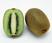 A Kiwi Fruit; Whole and Halved