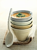 Stacked Bowls with Soup
