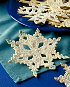 Thin Sugared Snowflake Cookies