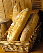 Rustic Breads in Wicker Basket