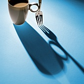 Cup and Fork with Shadow